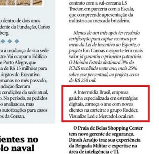 Agência Digital Ibr Na Mídia - Jornal Zero Hora