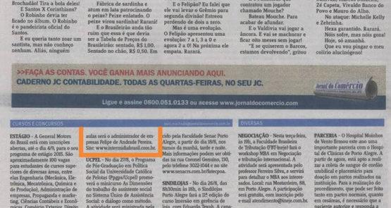 Agencia Digital Ibr na Mídia - Jornal do Comercio 01
