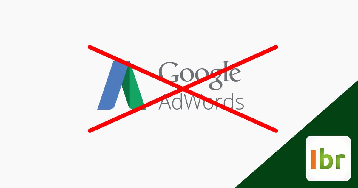 google adwords contas desativadas