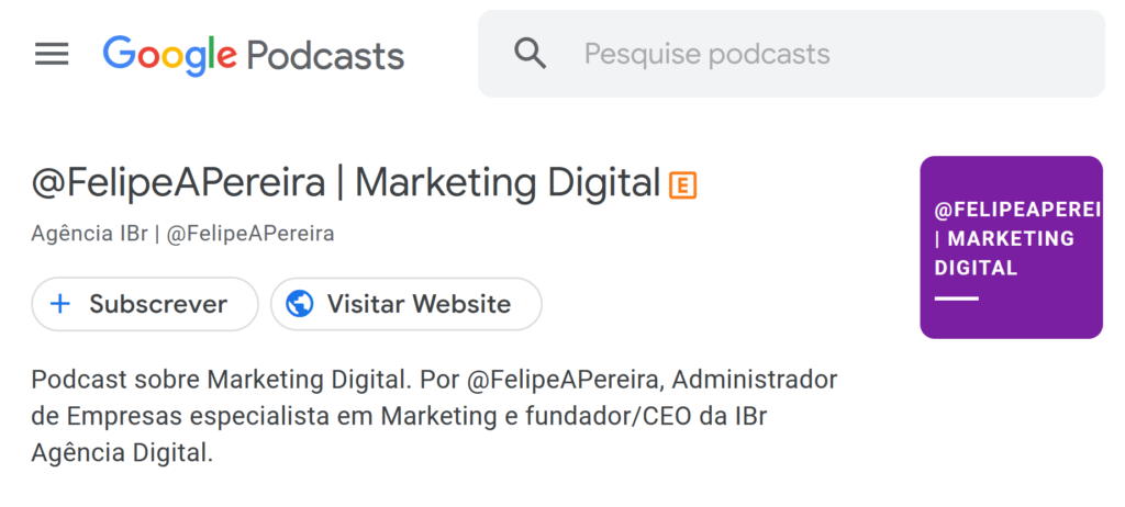 IBR NO GOOGLE PODCAST MARKETING DIGITAL
