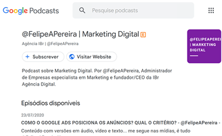 Marketing Digital Porto Alegre IBR No Google Podcast